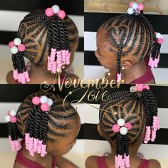 children braids with beads - children braids . children braids with beads . Toddler Braided Hairstyles, Toddler Braids, Black Kids Hairstyles, Girls Natural Hairstyles, African Braids Hairstyles, Toddler Hair, Quiff Hairstyles, Hairstyles Videos, African Hairstyles