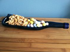 Recycled Wine Bottle  Serving Bowl by ChristinasCre8tions on Etsy, $25.00