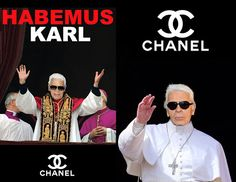 """Humor Chic: Humor Chic Fashion Religion - Pope Karl Lagerfeld """"Habemus Karl"""" Chanel Campaign Art by aleXsandro Palombo"""