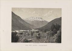 Norge fremstillet i Tegninger - Ukjent - Dale med Gausta i baggrunden. jpg (6080×4360)