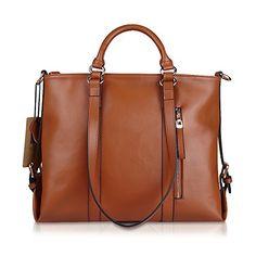 Kattee Urban Style 3-Way Women's Genuine Leather Shoulder Tote Bag (Brown) Kattee http://www.amazon.com/dp/B00M3OHVGM/ref=cm_sw_r_pi_dp_VVkgwb05F0XXN
