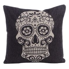 1 Pieces Skull Square New Composite Linen Blend Pillow Case Throw Body Pillow Bed Home Textile LW204