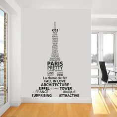 eiffel tower decal - how do you stick this nicely on the wall??
