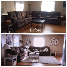 room decor brown couch Living room wood floor dark couch 41 Ideas for 2019 Brown Living Room Decor, Farm House Living Room, Brown Couch Decor, Dark Wood Living Room, Couch Decor, Living Room Grey, Dark Brown Furniture, Dark Wood Floors Living Room, Living Room Wood