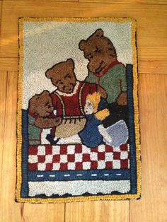 Goldilocks and three bears, another one of my earlier rugs