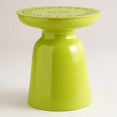 One of my favorite discoveries at WorldMarket.com: Apple Green Metal Dimitri Outdoor Stool