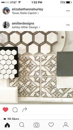 Kitchen backsplash ideas: Hex with stainless steel