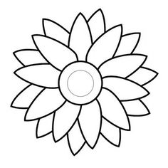 free flowers template that you can print out and use in your craft ...