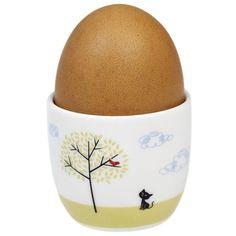 Cat and Bird egg cup from Baked By Me Novelty Egg Cups, London Gift Shop, Cat Egg, Vintage Egg Cups, Online Gift Shop, Egg Holder, Childrens Room Decor, Ceramic Materials, Vintage Cat