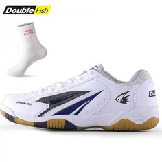 c17c85363f Double Fish Men s   Women s Professional Pingpong   Table Tennis Shoes -  White - Table Tennis Shoes - Table Tennis
