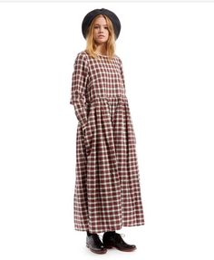 Cabbages And & Roses Tartan Annabelle Dress. 12