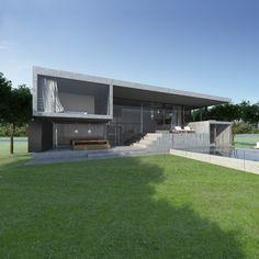 house in Nordelta, Buenos Aires - Argentina by DIEGUEZ FRIDMAN arquitectos & asociados (incredibly good render)