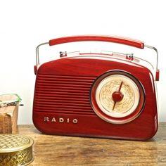 Rádio AM/FM Vintage Marrom