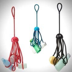 Suspended Squid Shower Caddy: Shower Squid is an eight tentacled shower caddy perfect for small space living. Camping Gear, Camping Hacks, Outdoor Camping, Camping Storage, Small Space Living, Happy Campers, Cool Gadgets, Just In Case, Cool Stuff