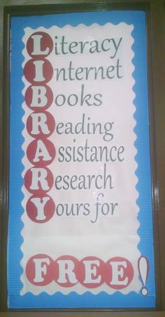 Added this for Library Databases Info! School Library Decor, School Library Displays, Library Themes, Middle School Libraries, Library Images, Library Ideas, Library Work, Elementary School Library, Library Organization