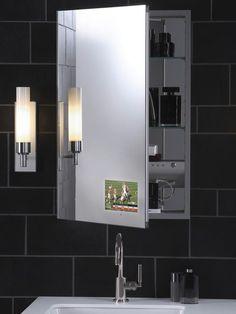 Mirror TV Cabinet