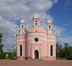 Chesme Church, St. Petersburg, Russia. Full name: Church of St. John the Baptist at Chesme Palace. Built at the direction of Catherine the Great in 1780.