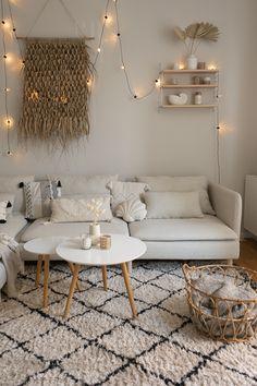 Living Pequeños, Ikea Living Room, Boho Living Room, Sofa Inspiration, Living Room Inspiration, Ikea Interior, Interior Design, Ikea Sofas, Ikea Couch