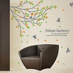 αυτοκόλλητα τοίχου αυτοκόλλητα τοίχου, σύγχρονα ο κλάδος των αυτοκόλλητα τοίχου πουλιά pvc – EUR € 22.06