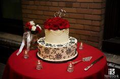 DIY wedding cake, photo by Teresa K.  photography