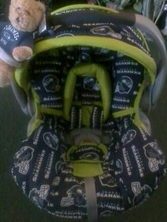 SEAHAWKS Infant car seat cover with matchng canopy... if we ever have a 910e22b78