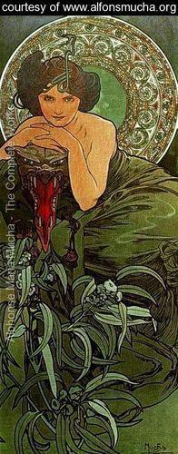 The Emerald - Alphonse Maria Mucha - www.alfonsmucha.org