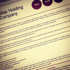 Step Holding Company website - www.stepholdingcompany.com