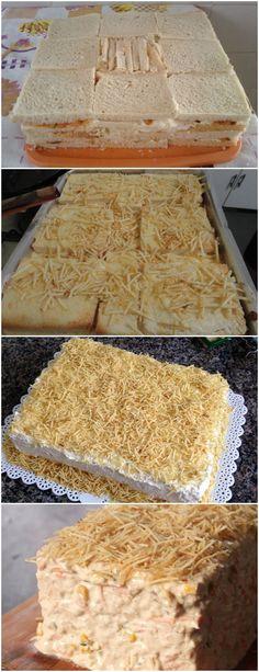 Torta de pão de forma fica pronta em 30 minutinhos. VEJA AQUI>>>Corte a cebola bem picadinha e coloque pra fritar na margarina Deixe que ela fique quase transparentes, sem dourar #TORTA#PÃP#DE#FORMA 30, Bread, Food, Deep Frying, Grated Cheese, Sandwich Loaf, Recipes, Beverages, Brot
