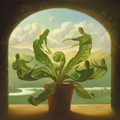 """""""Miracle of Birth"""" by Vladimir Kush Surrealismo / Surrealism Vladimir Kush, Surrealism Painting, Pop Surrealism, Artist Painting, Magritte, Wassily Kandinsky, Magic Realism, Sacred Art, Les Oeuvres"""
