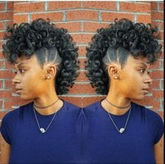 natural hair updo If you're hitting up a party or just need to look next-level, these frohawk styles for natural hair will have you looking fierce no matter the occasion. Cabello Afro Natural, Pelo Natural, Natural Hair Updo, Natural Hair Journey, Natural Hair Care, Natural Hair Styles, Natural Shampoo, Pelo Afro, Black Girls Hairstyles