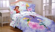 Disney Fairies Tinkerbell Floral Frolic Full Bedding Set by Disney, http://www.amazon.com/dp/B00B4XD6PS/ref=cm_sw_r_pi_dp_PtK9rb17PVPRR