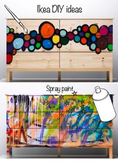 graffiti on furniture
