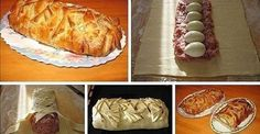 Meatloaf in pastry at home. This is delicious. Ingredients: - 50 g Hungarian Cuisine, Hungarian Recipes, Russian Recipes, Good Food, Yummy Food, Polish Recipes, Meatloaf Recipes, Desert Recipes, Original Recipe