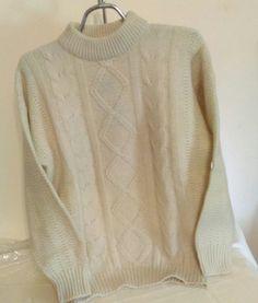 Santa Claus white wool sweater