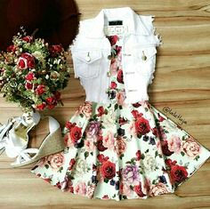 Image shared by Find images and videos about fashion, outfits and vestidos on We Heart It - the app to get lost in what you love. Komplette Outfits, Teen Fashion Outfits, Cute Fashion, Outfits For Teens, Stylish Outfits, Fashion Dresses, Teenager Outfits, Mens Fashion, Retro Fashion