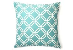 One Kings Lane - Pillows & Throws - Hamptons 20x20 Pillow, Aqua by Anna's Fabulous Things. $29