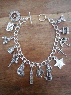 Peter Pan Charms Bracelet on Etsy, $20.49