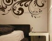 Flourishes and scrolls make great abstract art that is quick and easy { vinyl wall decals }