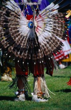 A fan of feathers decorates the back of this traditional Native American dress, seen at the Annual Indian Pow-wow - Mission San Luis Rey Francia. Native American Dress, Native American Decor, Native American Regalia, Native American Beauty, Native American Photos, American Spirit, American Indian Art, Native American History, Indian Pow Wow