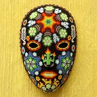 Heuechol Beadwork mask - Peyote Crown - NOVICA