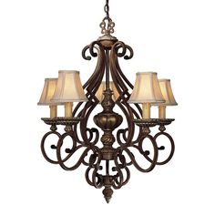 """View the Minka Lavery ML 957 5 Light 33"""" Height 1 Tier Chandelier from the Belcaro Collection at LightingDirect.com."""