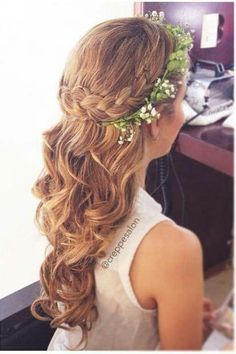 Junior bridesmaids hair