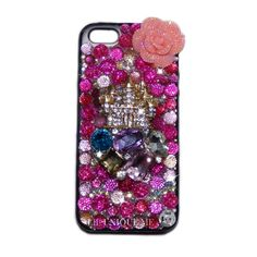 Have your very own custom phone case made to order   This crystal pink luxury castle case will certainly get you noticed  Fully encrusted in the best crystal rhinestones  You can be sure that you are buying the best custom case on the market as all our cases are handmade in the UK to the hi...