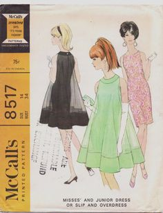 Vintage 1960s McCalls Sewing Pattern 8517 Womens by CloesCloset, $32.00