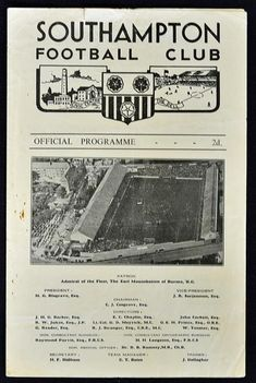 Mullock's Specialist Auctioneers : 1956/57 Southampton v Manchester United FA Youth Cup : Online Auction Catalogue