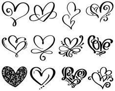 Check out our svg selection for the very best in unique or custom, handmade pieces from our digital shops. Small Heart Tattoos, Heart Tattoo Designs, Mom Tattoos, Cute Tattoos, Lettering Tutorial, Hand Lettering, Herz Tattoo Klein, Shoulder Tattoos For Women, Bullet Journal Ideas Pages