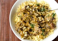 Millet & Mushrooms (hold the kale - it just won't last without a fridge)