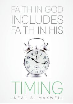 This is my hardest struggle in life.  I don't understand the paitence of waiting on God's time.  God knows best not ME!