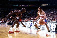 1997: Michael Jordan & the Chicago Bulls visit Allen Iverson & the Philadelphia 76ers.