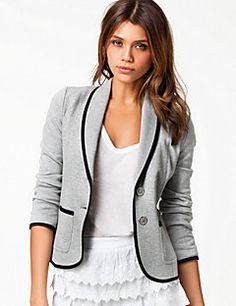 collo con revers montato giacca corta vestito delle donne QS... – EUR € 13.99
